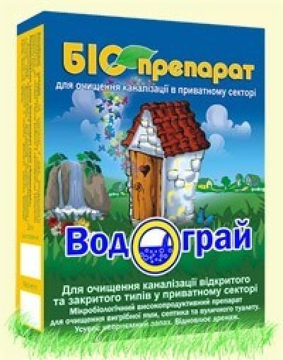 Биопрепарат Водограй 400г (для выгребных ям и канализации)