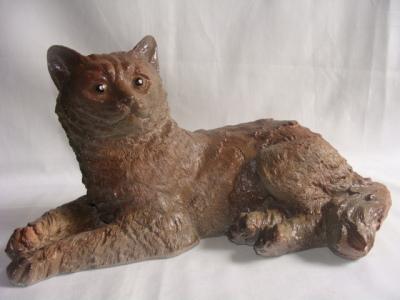 Статуэтка, фигурка для сада из  гипса «Серый кот»