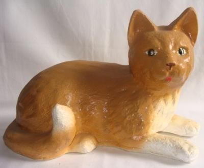 Статуэтка, фигурка для сада из  гипса «Рыжий кот»