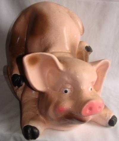 Статуэтка, фигурка для сада из  гипса «Свинья»