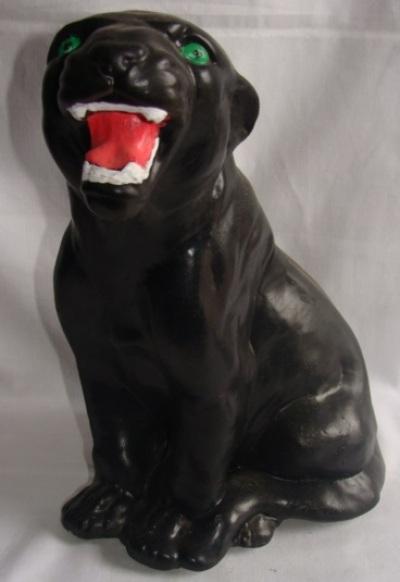 Статуэтка, фигурка для сада из  гипса «Пантера»