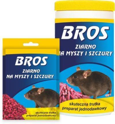 Купить BROS зерно от крыс и мышей 100г качественное средство от грызунов