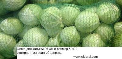 Сетка для капусты на 35-40 кг зеленая 1 шт